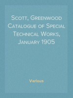 Scott, Greenwood Catalogue of Special Technical Works, January 1905