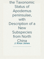 Comments on the Taxonomic Status of Apodemus peninsulae, with Description of a New Subspecies from North China