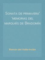 Sonata de primavera memorias del marqués de Bradomín