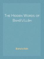 The Hidden Words of Bahá'u'lláh
