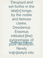 A dialoge or communication of two persons Deuysyd and set forthe in the late[n] tonge, by the noble and famose clarke. Desiderius Erasmus intituled [the] pylgremage of pure deuotyon. Newly tra[n]slatyd into Englishe.