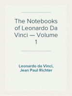 The Notebooks of Leonardo Da Vinci — Volume 1