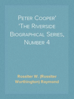 Peter Cooper The Riverside Biographical Series, Number 4
