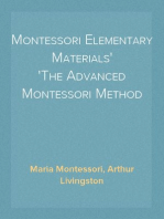 Montessori Elementary Materials The Advanced Montessori Method