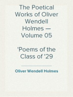 The Poetical Works of Oliver Wendell Holmes — Volume 05