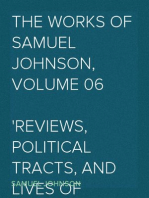The Works of Samuel Johnson, Volume 06 Reviews, Political Tracts, and Lives of Eminent Persons