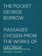The Pocket George Borrow Passages chosen from the works of George Borrow