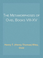 The Metamorphoses of Ovid, Books VIII-XV