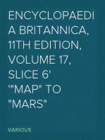 "Encyclopaedia Britannica, 11th Edition, Volume 17, Slice 6 ""Map"" to ""Mars"""