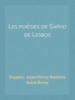 Les poésies de Sapho de Lesbos