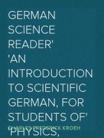 German Science Reader An Introduction to Scientific German, for Students of Physics, Chemistry and Engineering