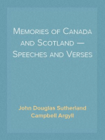 Memories of Canada and Scotland — Speeches and Verses