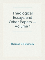 Theological Essays and Other Papers — Volume 1