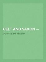 Celt and Saxon — Volume 1