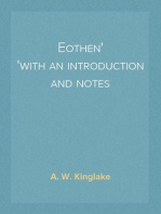 Eothen with an introduction and notes