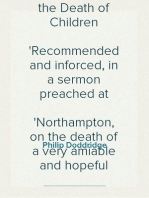Submission to Divine Providence in the Death of Children