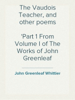 The Vaudois Teacher, and other poems