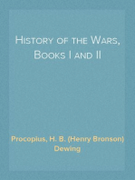 History of the Wars, Books I and II The Persian War