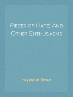 Pieces of Hate; And Other Enthusiasms