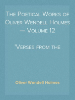The Poetical Works of Oliver Wendell Holmes — Volume 12