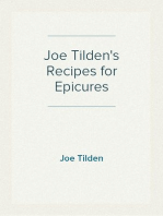 Joe Tilden's Recipes for Epicures
