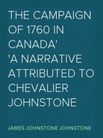 The Campaign of 1760 in Canada A Narrative Attributed to Chevalier Johnstone
