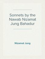 Sonnets by the Nawab Nizamat Jung Bahadur