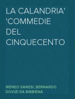 La Calandria Commedie del Cinquecento