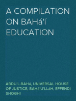 A Compilation on Bahá'í Education