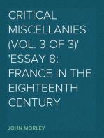 Critical Miscellanies (Vol. 3 of 3) Essay 8