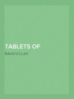 Tablets of Bahá'u'lláh Revealed after the Kitab-i-Aqdas