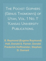 The Pocket Gophers (Genus Thomomys) of Utah, Vol. 1 No. 1 Kansas University Publications.