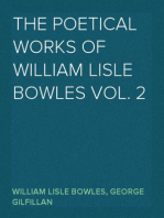 The Poetical Works of William Lisle Bowles Vol. 2