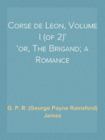 Corse de Leon, Volume I (of 2) or, The Brigand; a Romance