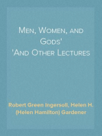 Men, Women, and Gods And Other Lectures
