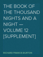The Book of the Thousand Nights and a Night — Volume 12 [Supplement]