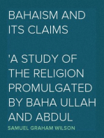 Bahaism and Its Claims
