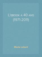 L'ebook a 40 ans (1971-2011)