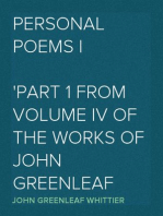 Personal Poems I