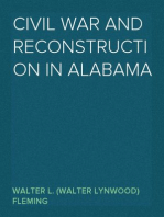 Civil War and Reconstruction in Alabama