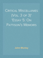 Critical Miscellanies (Vol. 3 of 3) Essay 5