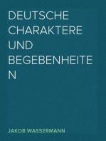 Deutsche Charaktere und Begebenheiten