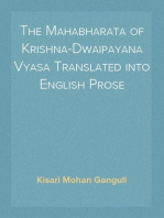 The Mahabharata of Krishna-Dwaipayana Vyasa Translated into English Prose Sabha Parva