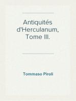 Antiquités d'Herculanum, Tome III. Peintures