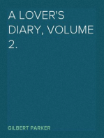 A Lover's Diary, Volume 2.