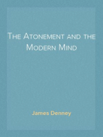 The Atonement and the Modern Mind