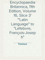 "Encyclopaedia Britannica, 11th Edition, Volume 16, Slice 3 ""Latin Language"" to ""Lefebvre, François-Joseph"""