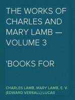 The Works of Charles and Mary Lamb — Volume 3 Books for Children