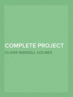 Complete Project Gutenberg Oliver Wendell Holmes, Sr. Works