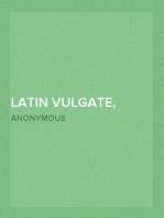 Latin Vulgate, Bible Book Titles and Names